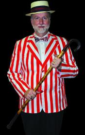 Roaring 20s Blazer Red and White Striped Halloween Costume