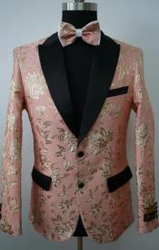 Rose Gold Suit - Rose Gold Tuxedo With Bowtie Including Pants