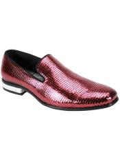 SKU#6882 Sequence Slip On Shoe - Fashion Party Shoe Burgundy
