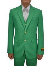 Green Groomsmen Suit