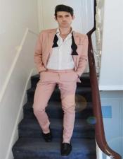 Mens Light Pink Suit - Blush Color Suit