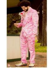 Paisley Suit - Pink Suit - Mens Floral Suit + Matching Bow