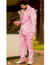 Fuchsia Color Suit - Hot Pink Suit With Matching Bowtie - Prom