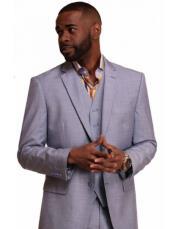 100% Irish Linen Suits - Mens Vested Three Pieces Summer Suit