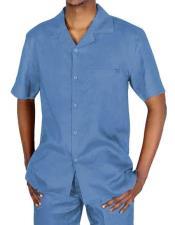 Light Blue Linen Suit
