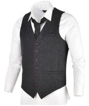 Mens Gray Tweed Suit - Grey Wool Suit - Winter Fabric
