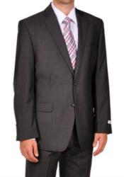 Mens Gray Tweed Suit - Gray Wool Suit - Winter Fabric Heavy