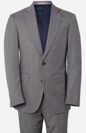 Grey With Pink Pinstripe Suit