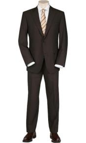 Suits For Big Belly Solid Brown