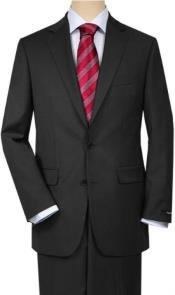 Suits For Big Belly Solid Charcoal Gray