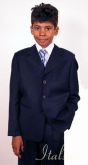 Toddler Navy Blue Suit - Boys Navy Blue Suit - Kids Navy