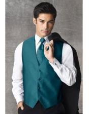 Mens Teal Blue Fashion Tuxedo For Men + Tuxedo Suit + Vest