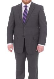 Suits For Big Belly Charcoal Gray