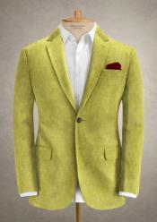 Lime Green Corduroy Suit - Cotton Suit