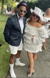 Black Tuxedo With White Trim With White Shorts