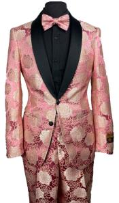 Pink Floral Prom Tuxedo