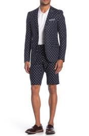 Polka Dot Suits With Shorts