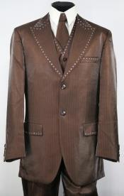 Tuxedo Suit - Brown