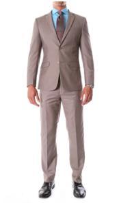 Dark Tan Wedding Suit - Taupe Color Wedding Suit - Groomsmen Suit