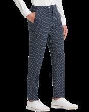 Polka Dot Dress Pants For Men - Black and White Dress Pants