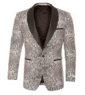 Snakeskin Blazer - Snakeskin Jacket Silver