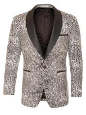 Snakeskin Blazer - Snakeskin Jacket Black ~ White