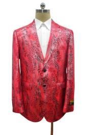 Snakeskin Blazer - Snakeskin Jacket Red
