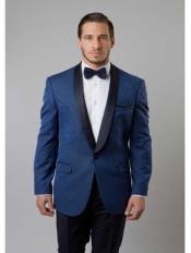 Cobalt Blue Tuxedo Suit
