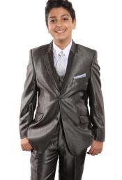 Boys Tuxedo + Boys Taupe Suit