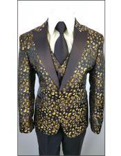 Boys Tuxedo + Boys Black ~ Yellow ~ Brown Suit