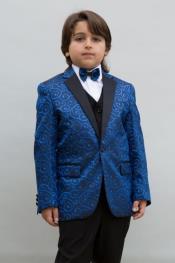 Boys Tuxedo + Boys Navy Blue Suit