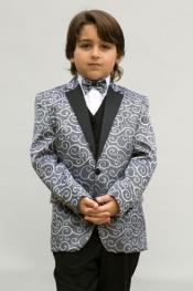 Boys Tuxedo + Boys Silver Suit