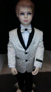 Boys Tuxedo + Boys Cream Suit