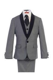 Boys Tuxedo + Boys Grey Suit