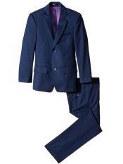 Boys Slim Fit Suits - Kids Navy Slim Fit Suit