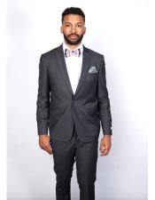 Boys Slim Fit Suits - Kids Gray Slim Fit Suit