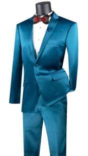 Mens Teal Blue Suit