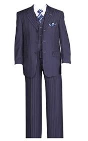 Mens Fancy Stripe High Fashion Suit with Vest and Pants