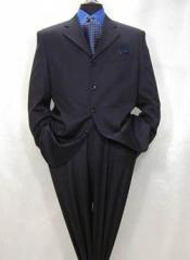 4-Button Dark Navy Blue