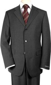 SKU 546 Italian Charcoal Gray Super 150s Wool Mens Suits 199