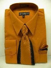Rust Dress Shirt Tie