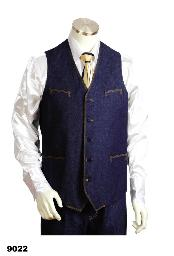 2pc Blue Denim Vest