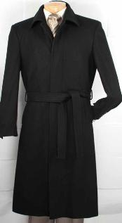 Wool Blended Belted Overcoat
