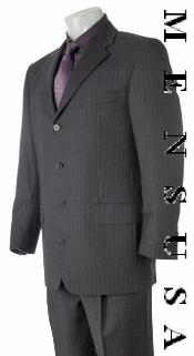 SKU HW04 Absolutely stunning Deep Charcoal Gray  Smooth Pinstripe Super finest fabric super soft