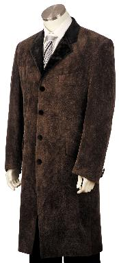 SKU#YW8131 Mens Long Fashion Velvet Zoot Suit in Taupe