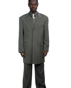 Stylish Grey Pinstripe Suit