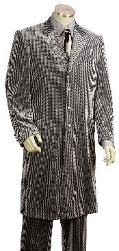 Fashionable Long Velvet Suit