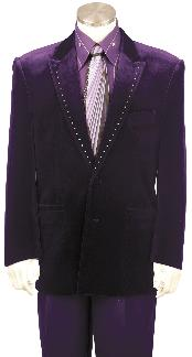 Purple Fashion Unique Tuxedo