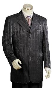 3 Piece Vested Black