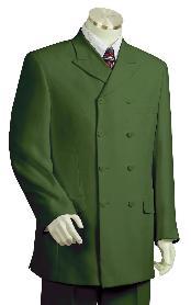 Stylish Olive Zoot Suit